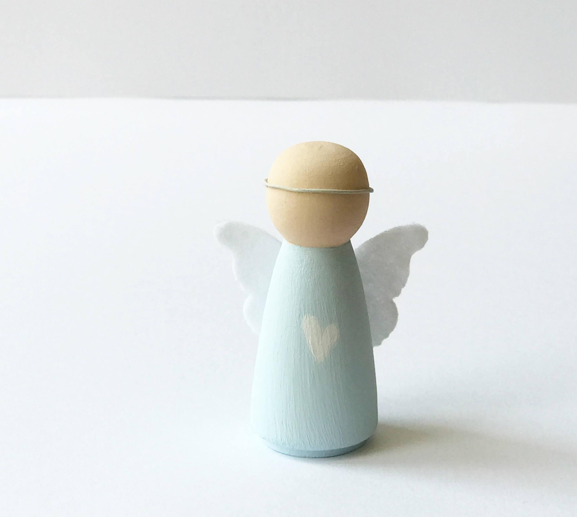 Boy Peg Doll Angel Peg Doll Angel Christening Gift New Baby Gift Nursery Decor Boys Nursery Decor Little Boys Room Nursery