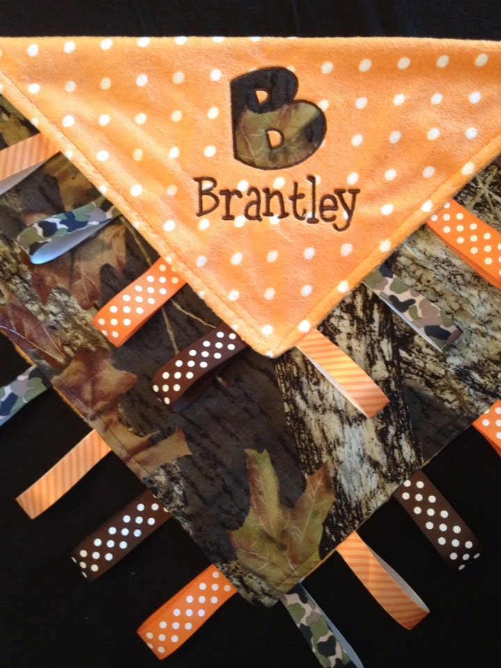 Camo Baby Tag Security Blanket By Tanniesplace On Etsy