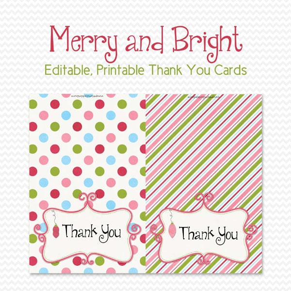 Holiday Thank You Cards Thank You Notes Personalized Note Cards Christmas Party Supplies