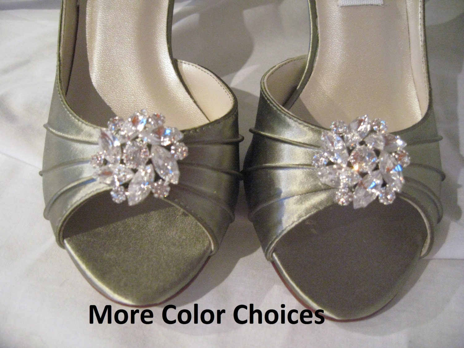 Items Similar To Wedding Shoes Sage Green Bridal Shoes Crystal Flower Swirl