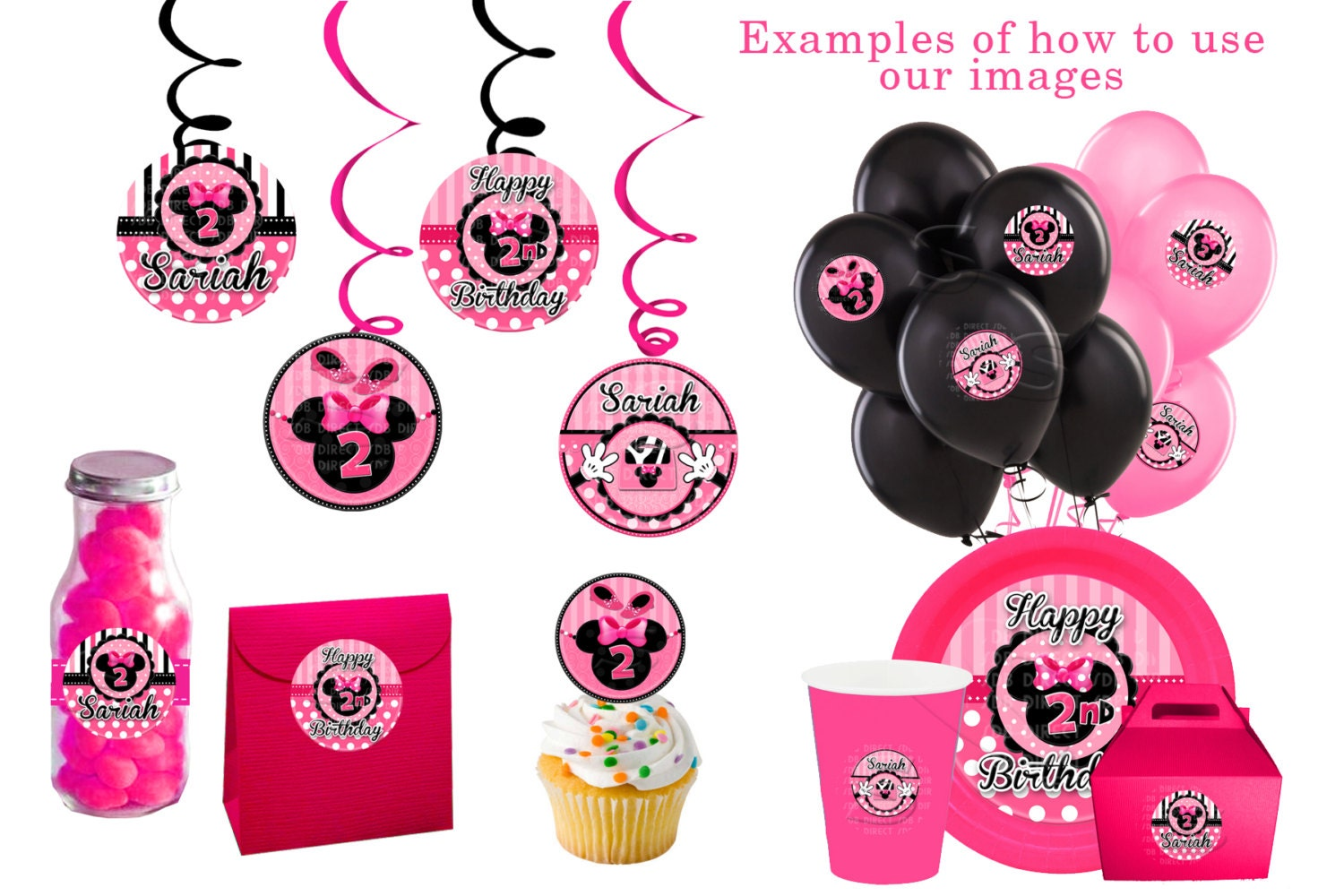 Elegant Minnie Mouse Party, Minnie Baby Minnie Mouse Decorations On Etsy, A Global  Handmade And