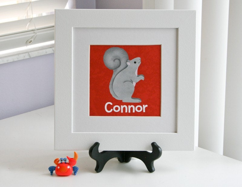 Personalized Squirrel Children's Name Frame