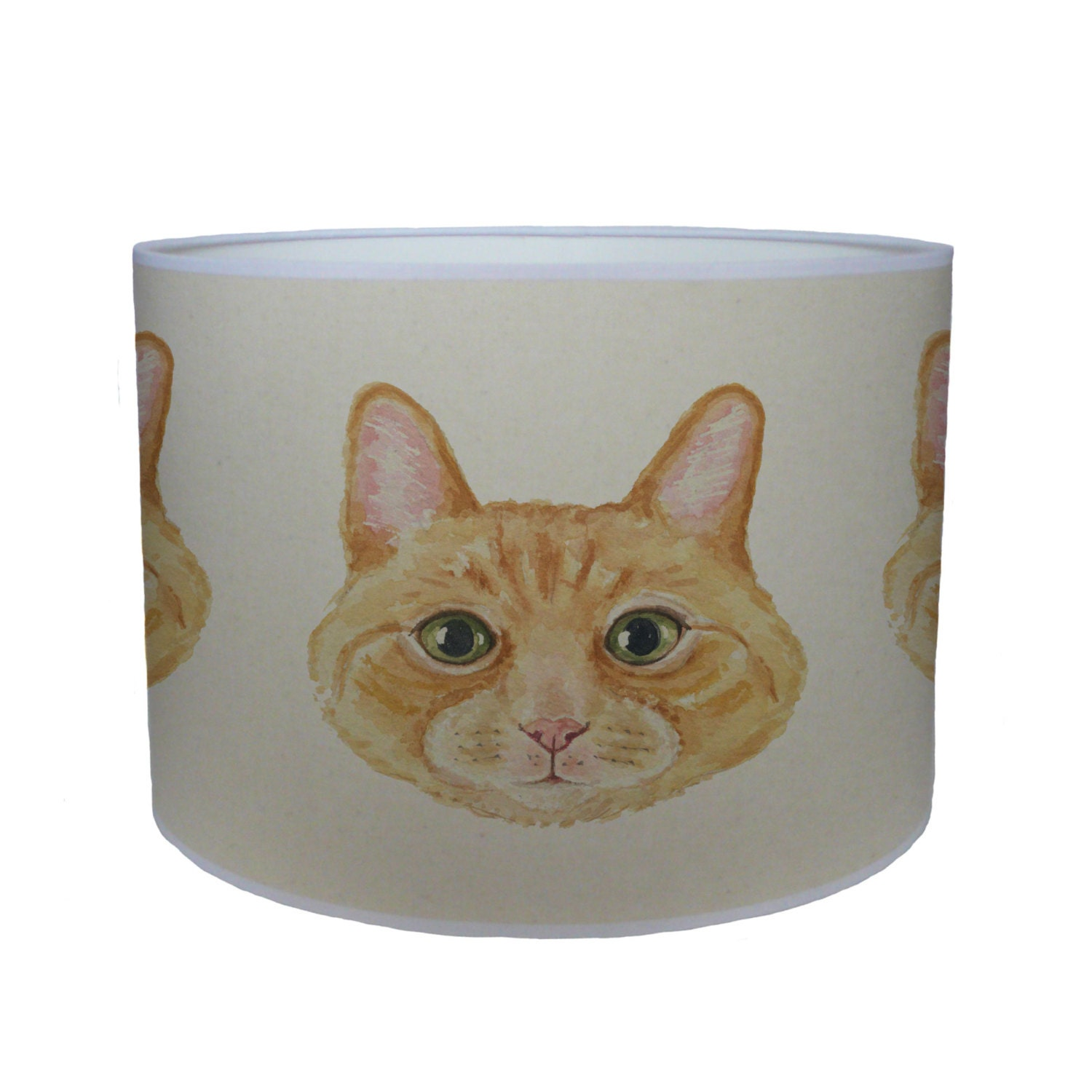 ginger cat shade lamp shade ceiling shade drum lampshade lighting handmade home