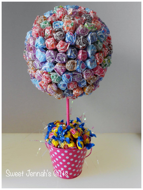 Dum lollipop centerpiece in cute pink by sweetjennahsgifts