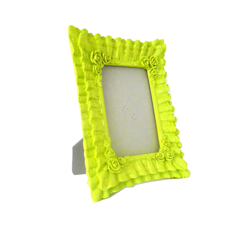 Http Www Etsy Com Listing 162663927 Lime Green Picture Frame Ornate Modern