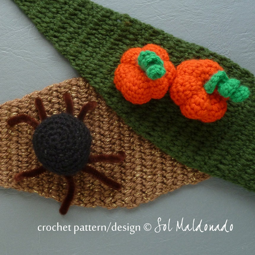 Easy Crochet Pattern For A Baby Hat : Items similar to Headband Crochet Pattern halloween ...