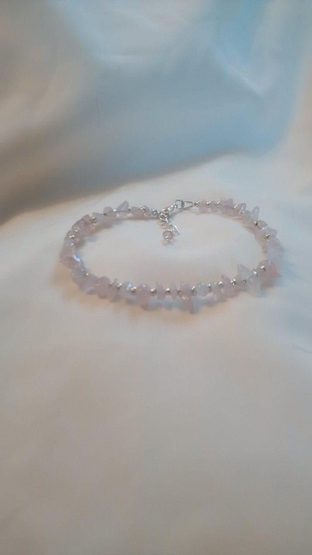 Rose Quartz Anklet  Love Stone Anklet Energy Anklet  Healing Anklet  Love Anklet