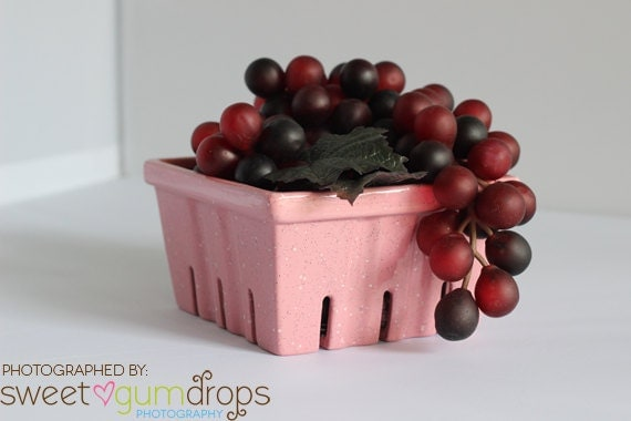 Ceramic Berry Basket Go Green and carry your own basket