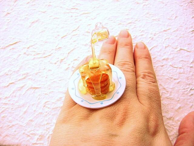 Kawaii Симпатичные японские плавающей продовольственной кольцо Блины с сиропом