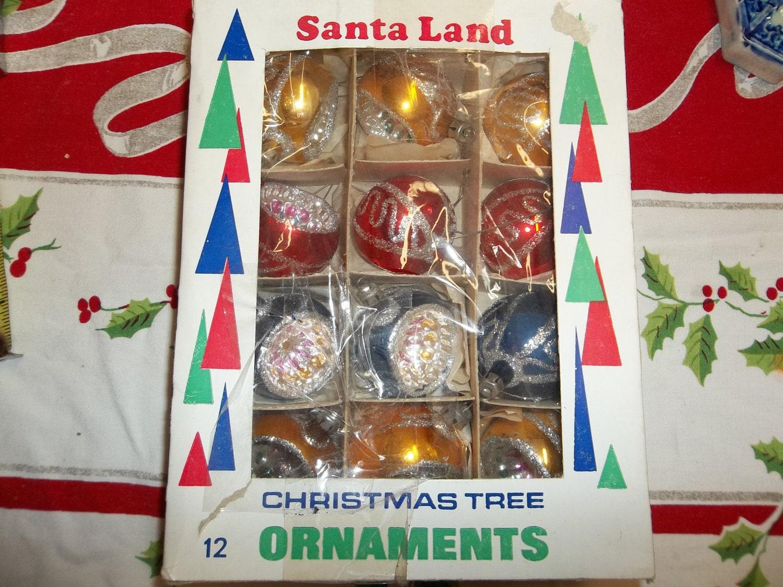 Glass Christmas Ornaments Vintage Polish Christmas Tree Decorations