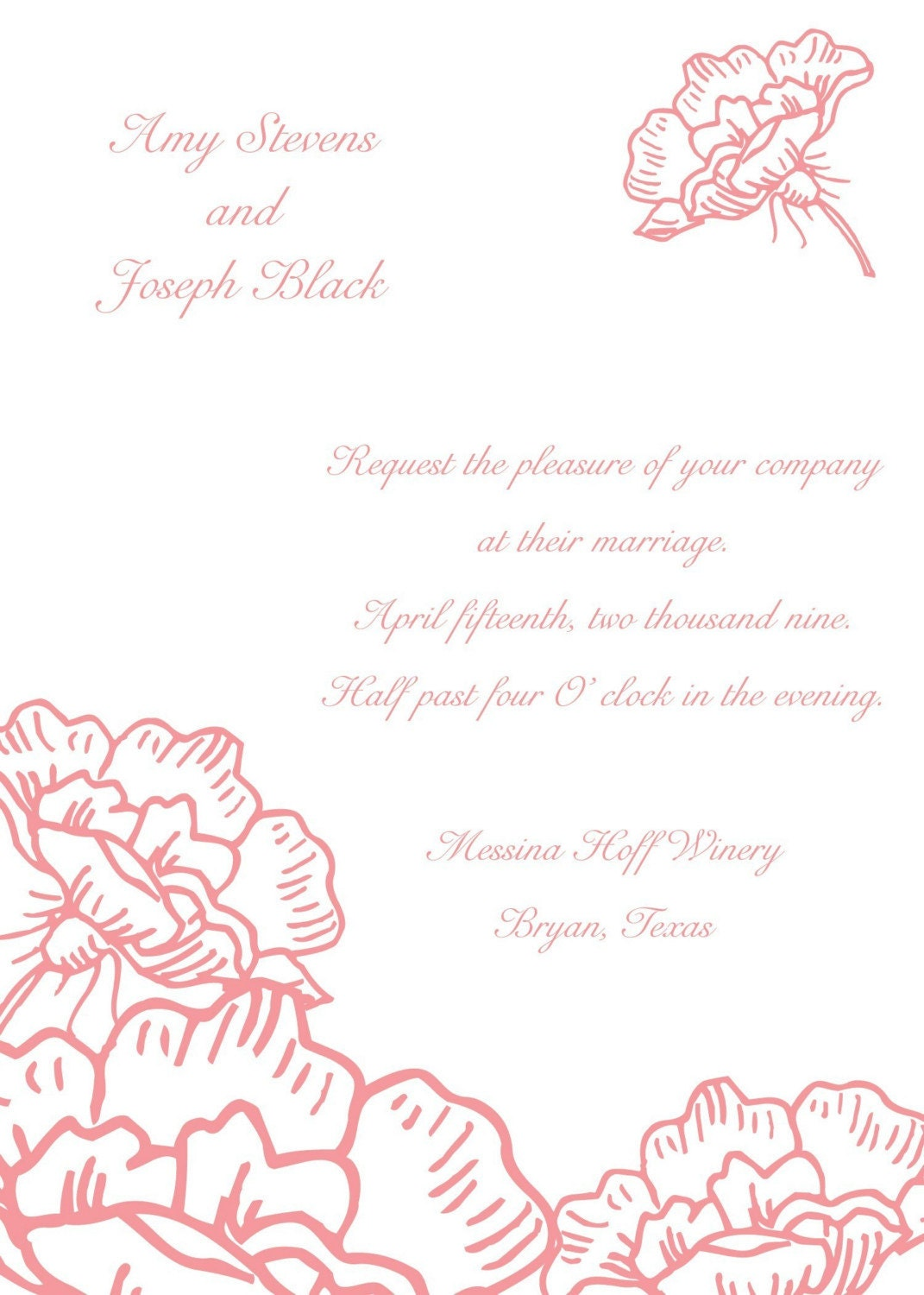 Peony Wedding Invitation-100