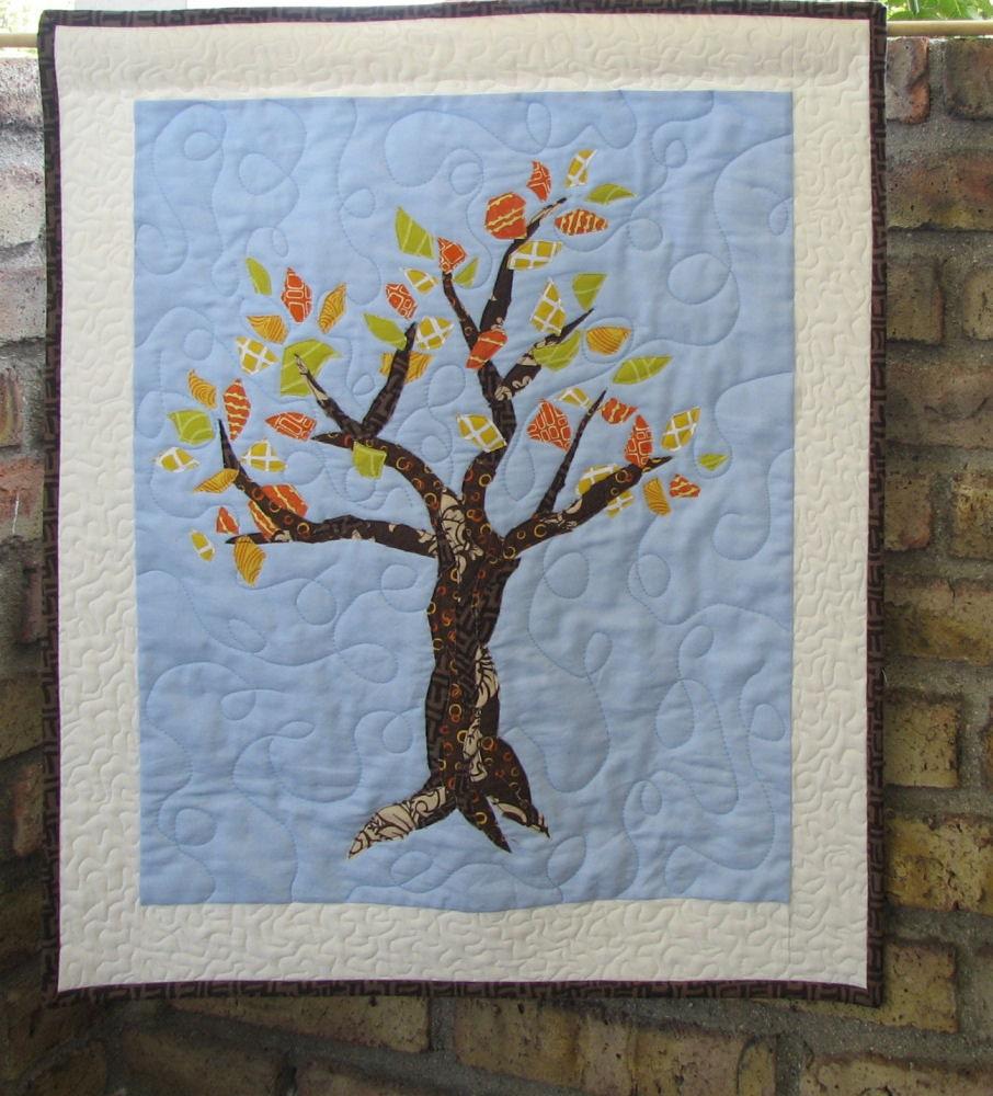 Tree Wall Hanging Art Quilt Pattern PDF Digital File