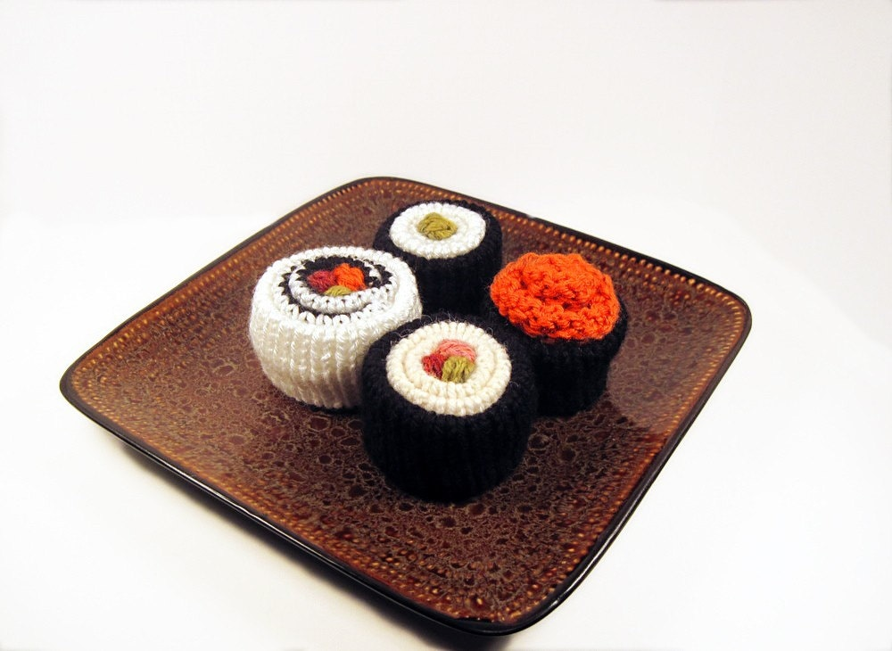 Knitted Sushi Roll Set