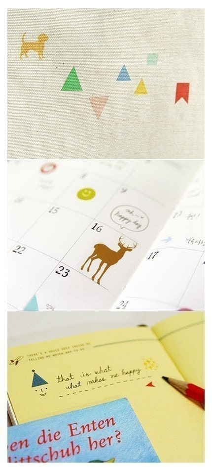 Diary Simple Deco Sticker - 10 sheets