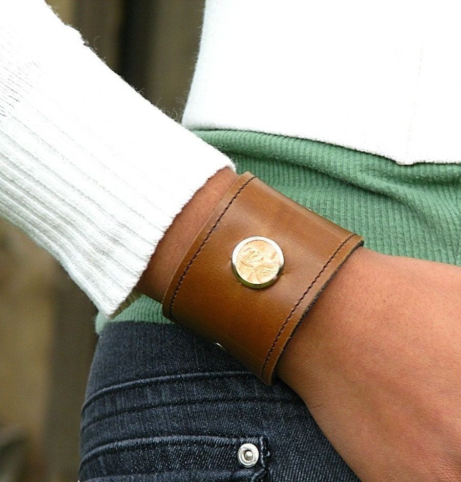 Lucky Penny Leather Cuff - 2008 American Edition