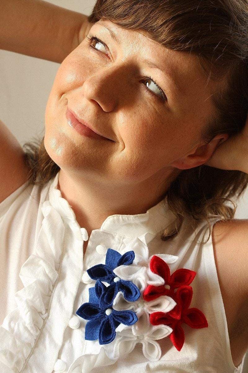 Americana Flower Brooch