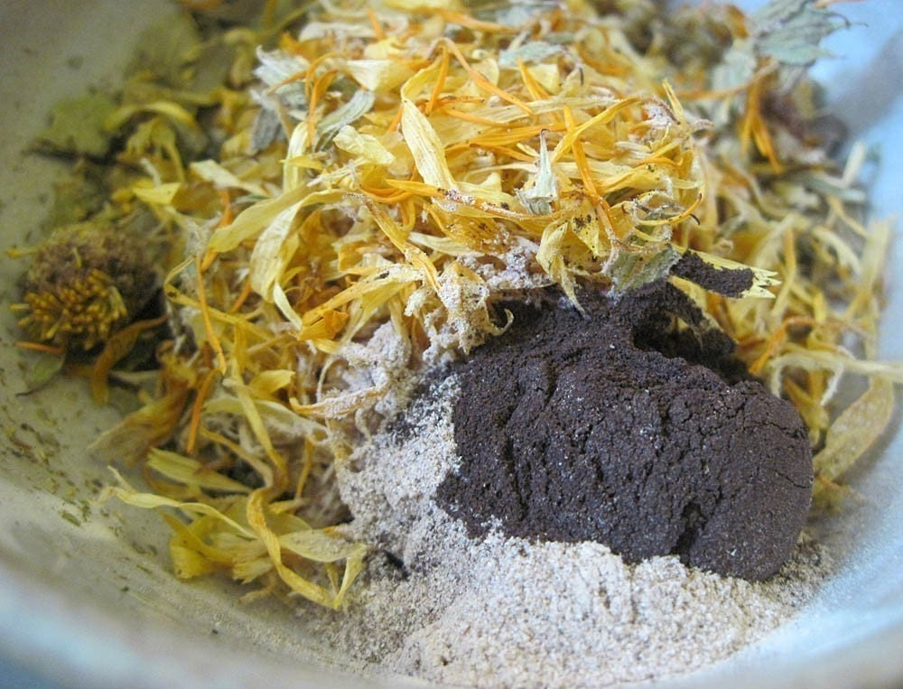 Herbal  Hair Tea Rinse - Nettle, Burdock Root, Neem, Comfrey Root, Chamomile Flowers, Marshmallow Root and More - 2 Pack