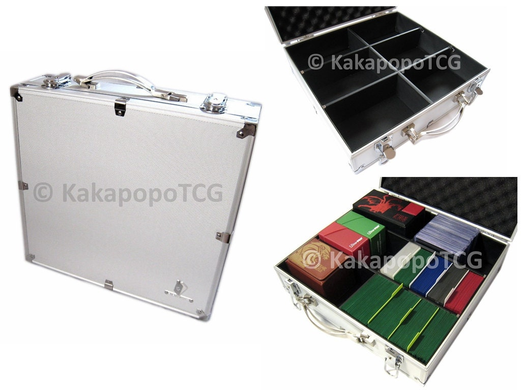 E2 Lockable Storage Case inspired by Kaibas Briefcase for Yugioh YGO Magic the Gathering MTG Wow Pokemon Vanguard Deck Box Board Card Games