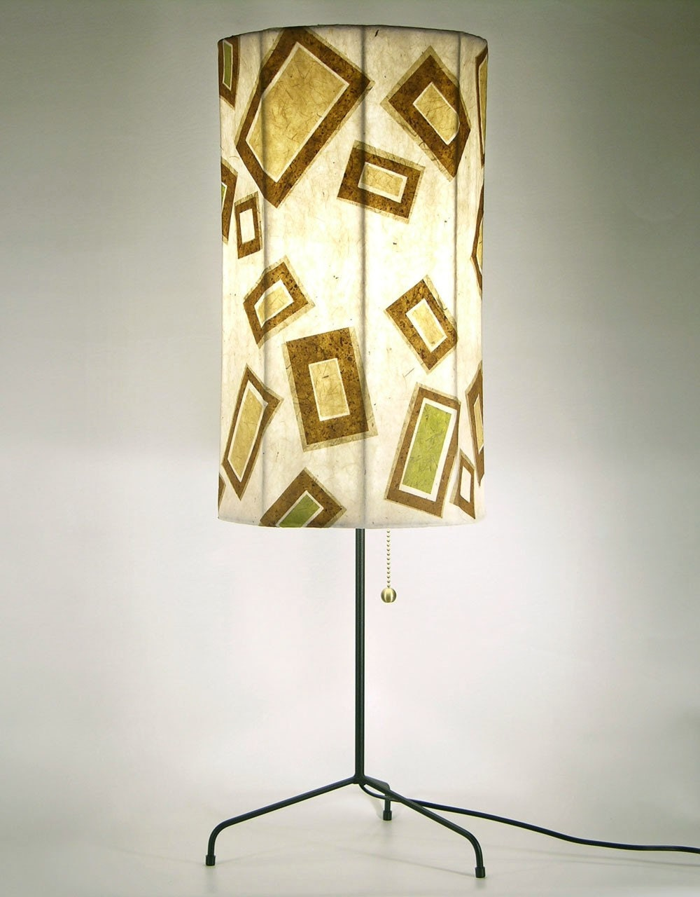 Paper Wind /Brown Beige Green /  Paper Mache / by lauralights from etsy.com
