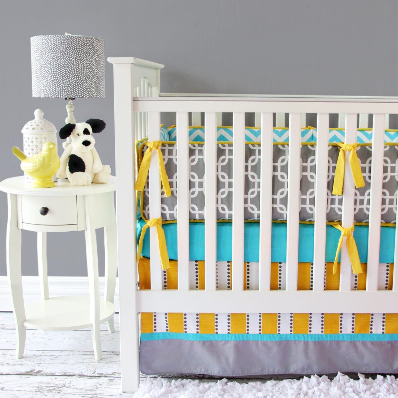 Bright Baby Gray Baby Bedding Set