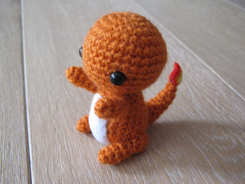 Amigurumi Pokemon Charmander : Pokemon Charmander Amigurumi Crochet plush by SugarYarnStore
