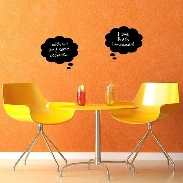 Chalk Thoughts, vinyl chalkboard decal