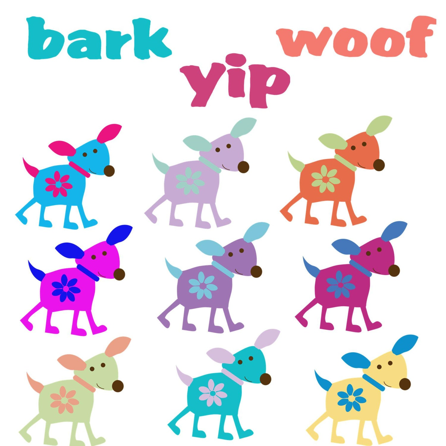 spring dog clipart - photo #7