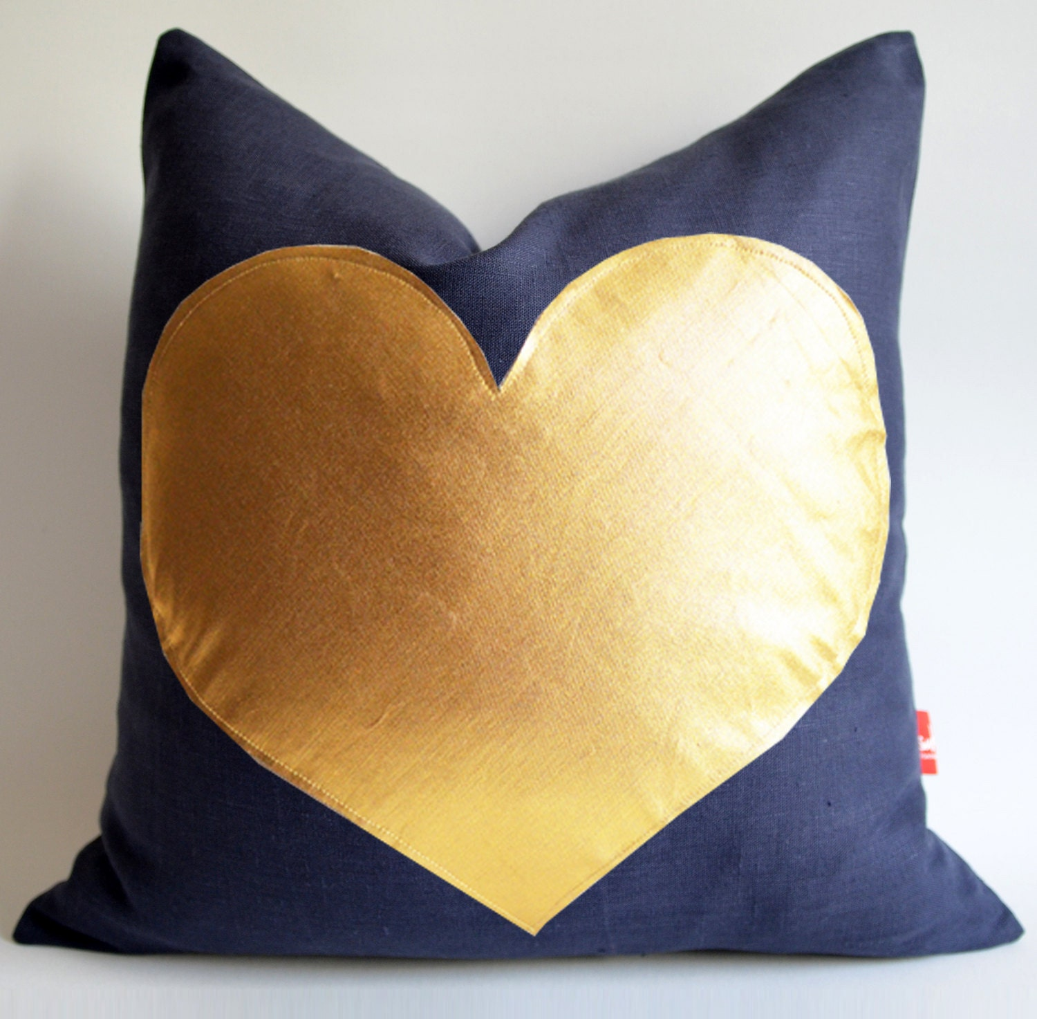 Sukan navy blue and gold pillow red and gold pillow by sukan for Blue and gold pillows