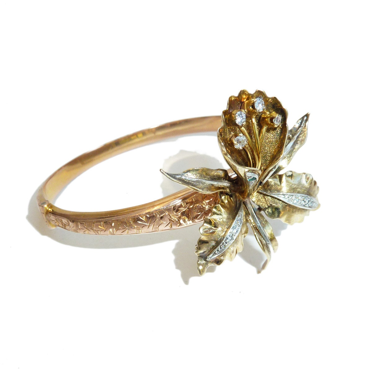 Sapphire and diamond cuff bangle 1stdibscom