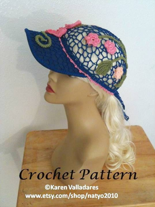 Paradise Ponytail Baseball Cap Crochet Pattern PERMISSION TO SELL finish product