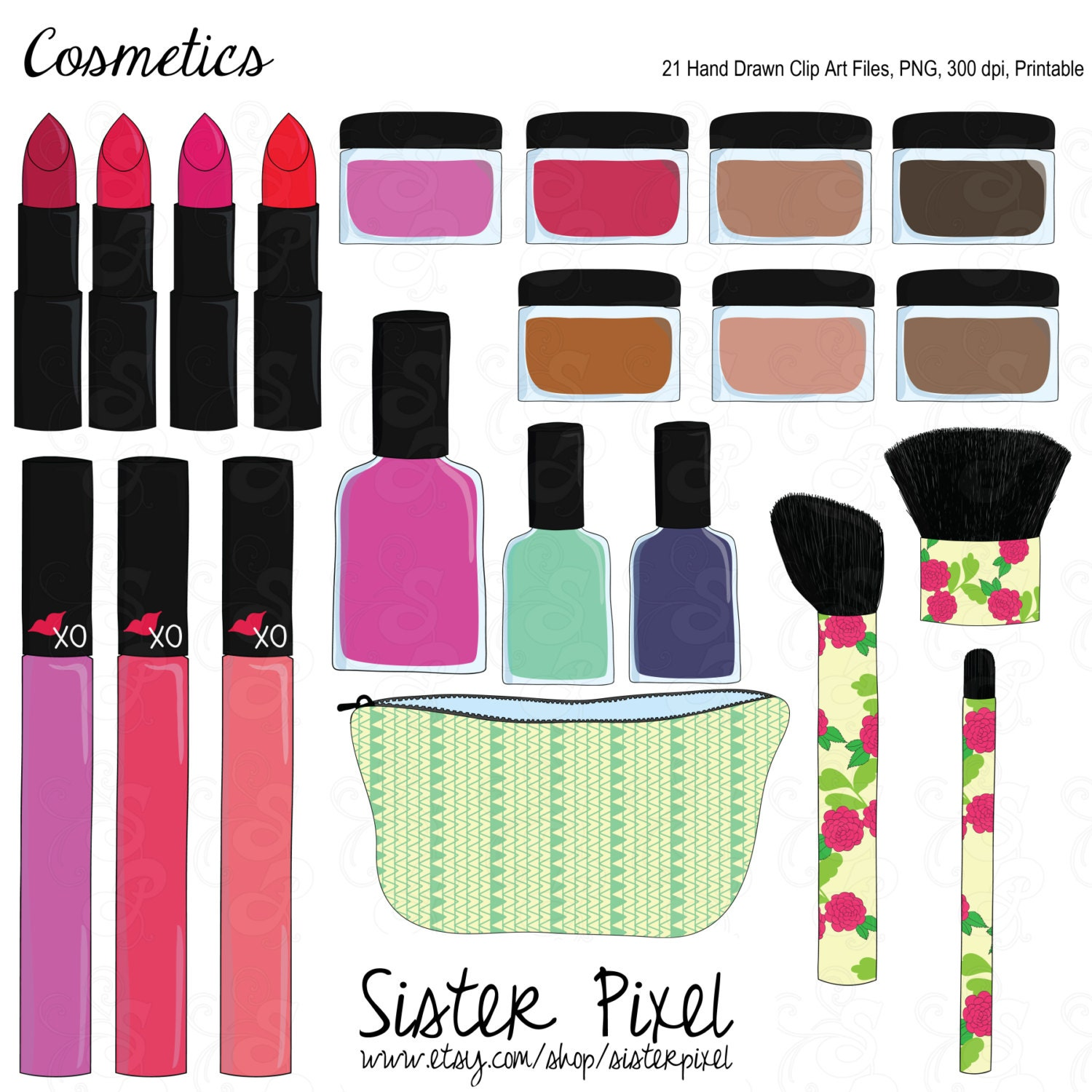 Make Clip Art Hand Drawn Cosmetic Files
