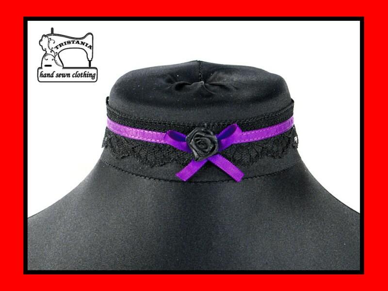 gothic cyber goth queen of darkness choker collar necklace necktie cosplay lolita victorian renaissance steampunk corset japan style  0490