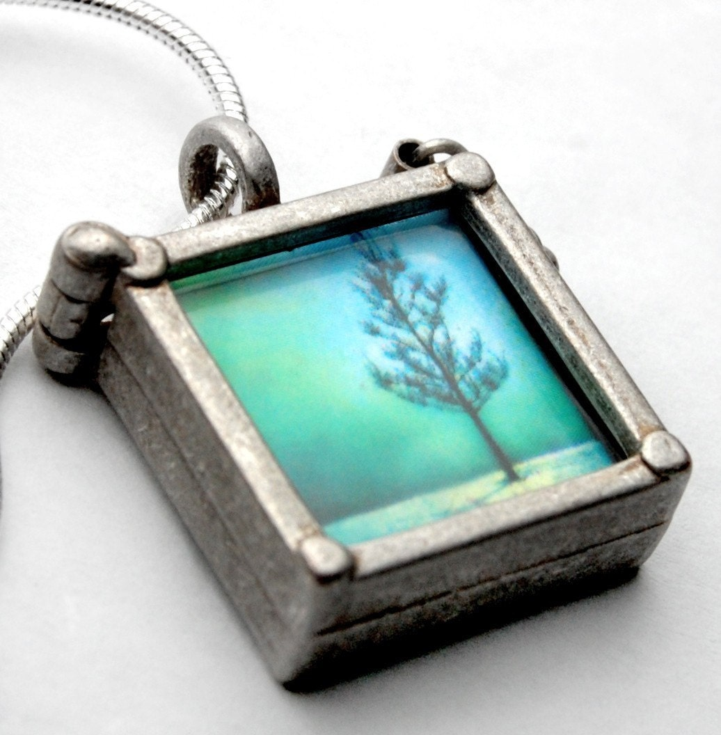 glass two sided ttv photo pendant - includes 20  PHOTOS - see pictures