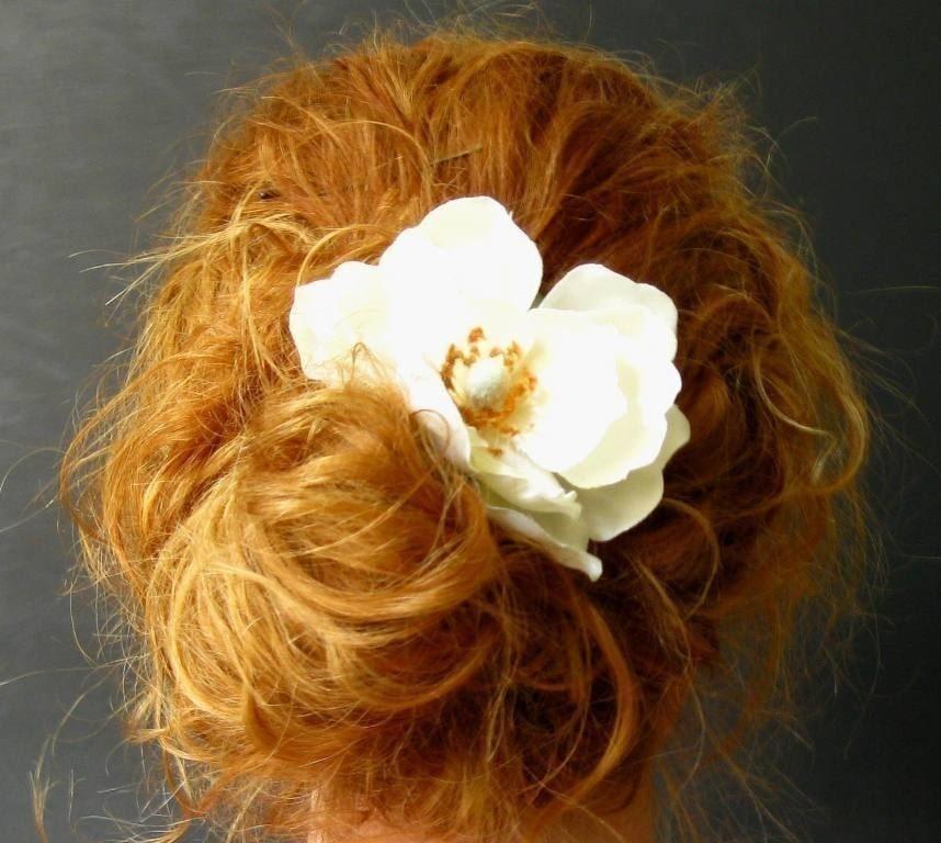 Romantic Magnolia Hair Clip