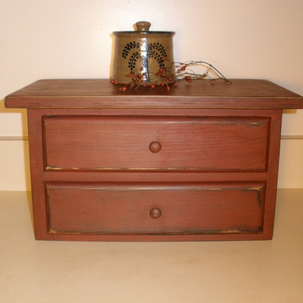 Primitive Wood Toaster Cover Red By Teresasprimtreasures