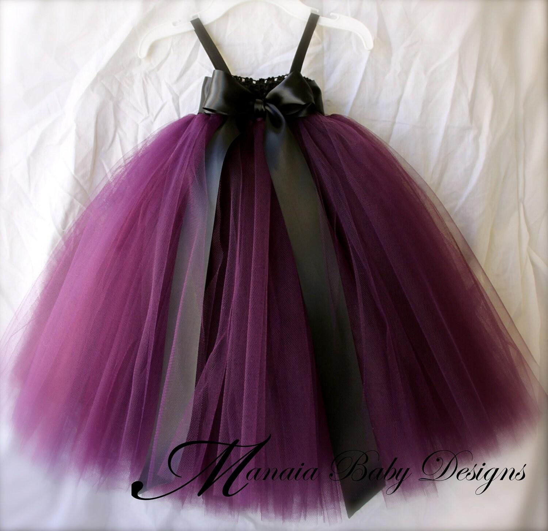 Eggplant Tutu Dress Plum Tutu Dress Plum by ManaiaBabyDesigns