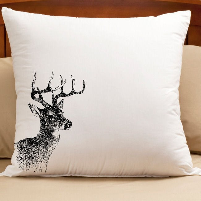 Do It Yourself Iron On Transfers - Pillow - Home Decor - Actual Transfer Sent To You - Deer Head -