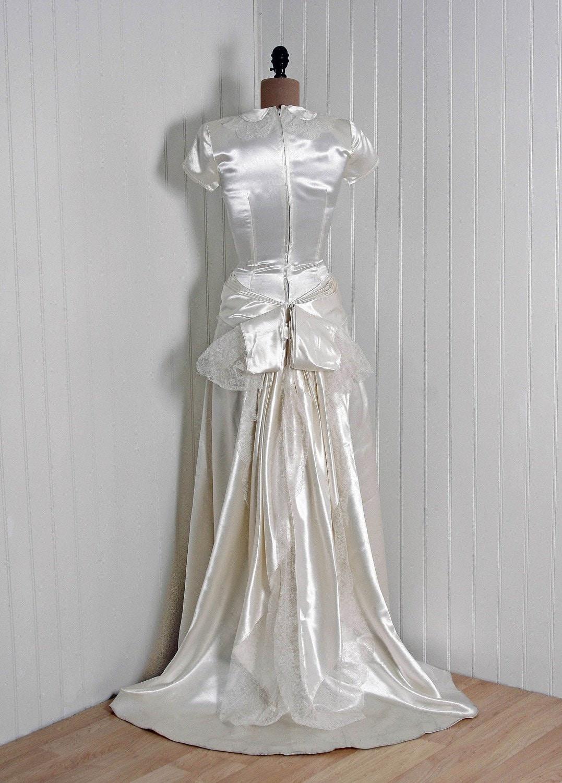 Mariages r tro robes d 39 autrefois mod le vintage style - Style annee 40 ...