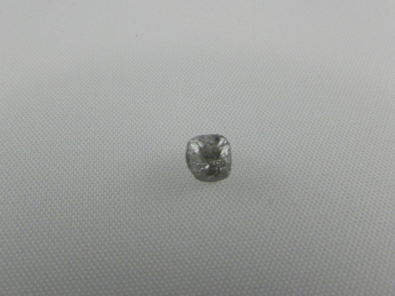 0.75 carat silver colored semi clear rough cut diamond ...