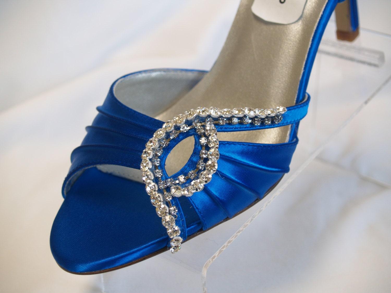 Blue Wedding Shoes Royal Blue Crystals 2 5 Heels By NewBrideCo
