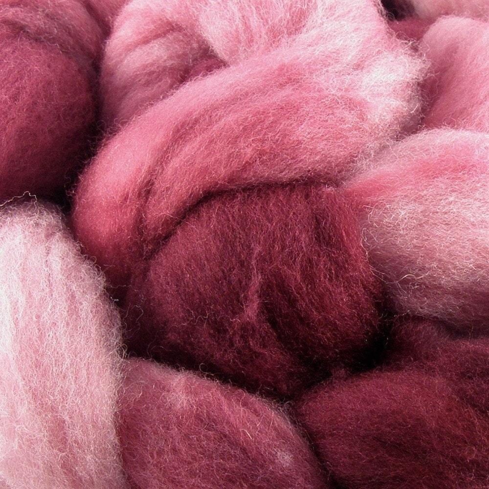 Hand Dyed Shetland Wool Top Fiber for Handspinning - Rivendell