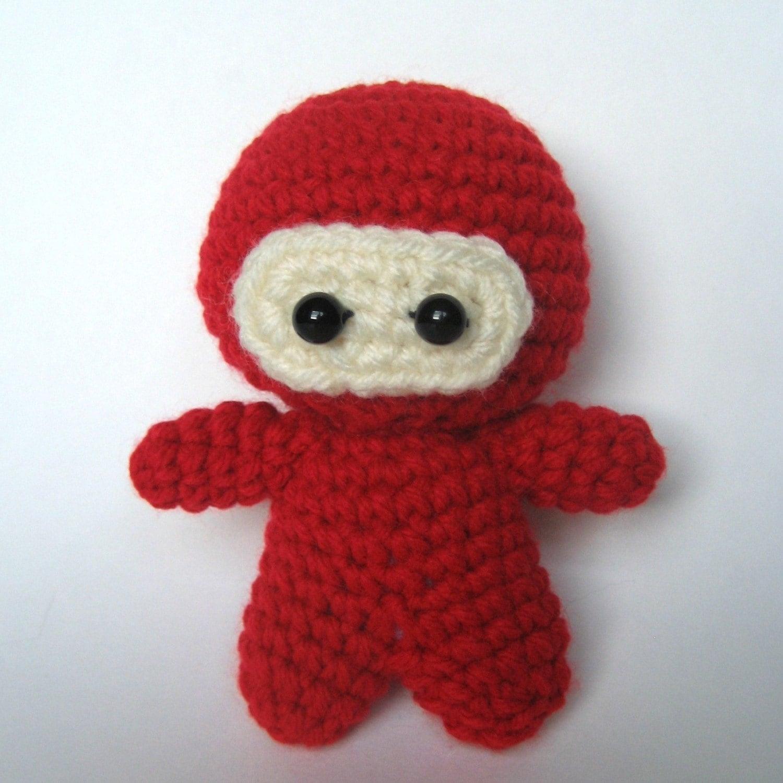 Ninja Amigurumi Free Pattern : Amigurumi Crochet Ninja Pattern by MsPremiseConclusion on Etsy