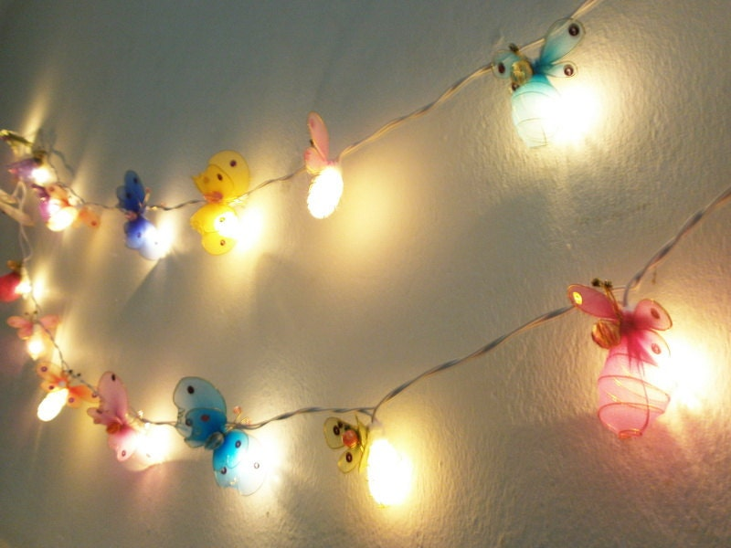 Outdoor String Lights Etsy : Insecta Mixed String Lights Bed Room Decorate by WoodLantern
