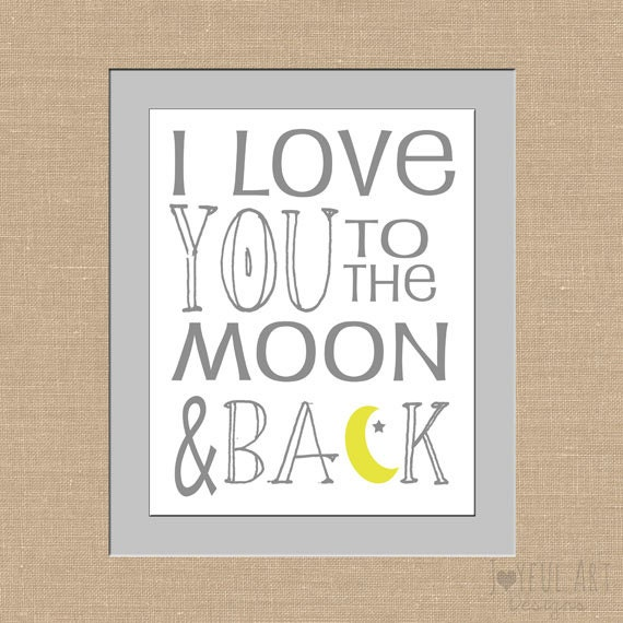 i love you to the moon and back subway art by joyfulartdesigns. Black Bedroom Furniture Sets. Home Design Ideas
