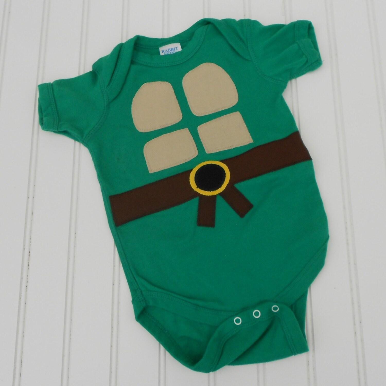 baby shower gift ready to ship onesie teenage mutant ninja turtles
