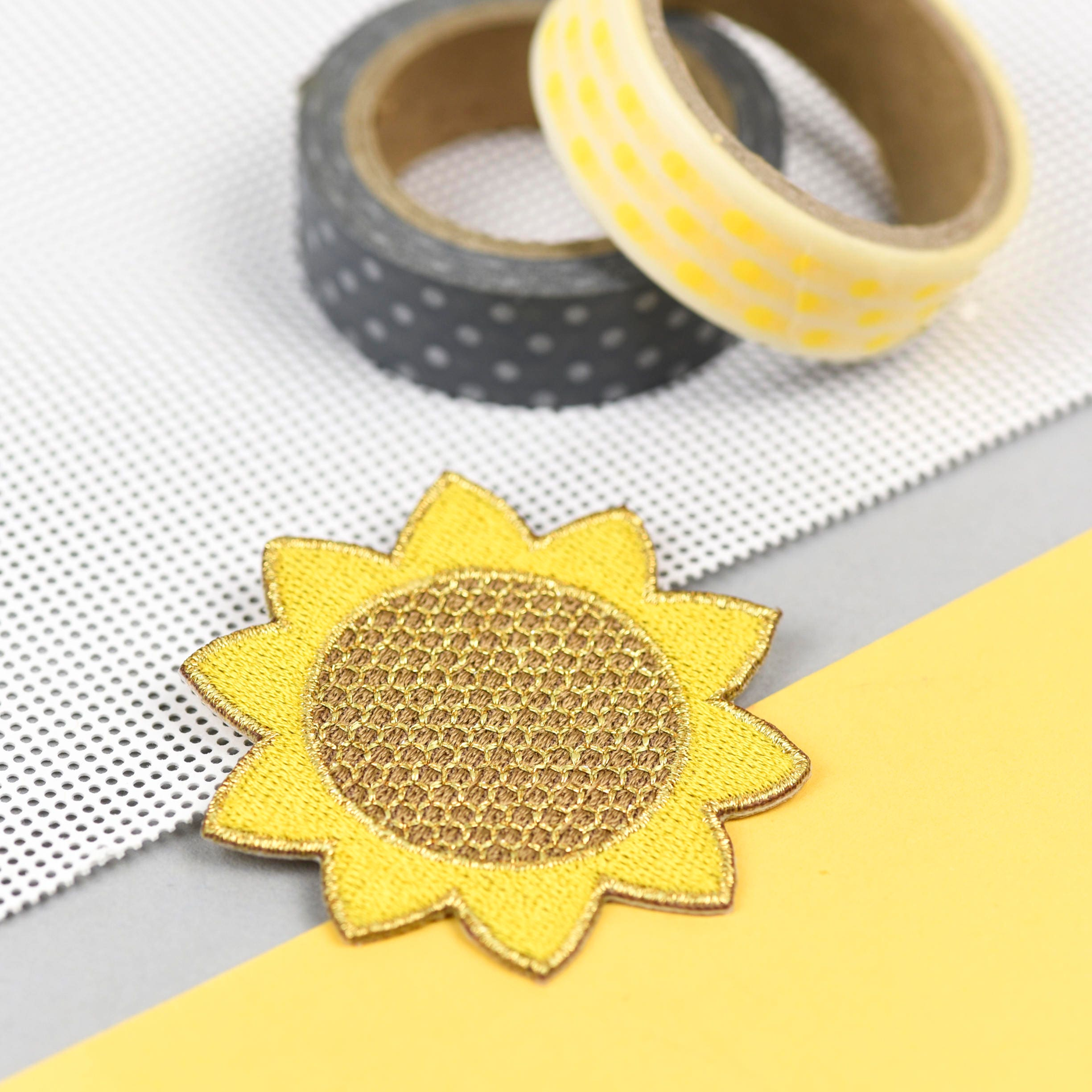 Sunflower embroidered patch  summer vibes all year  cheerful patch  happy flair  sew on patch  iron on patch  gardening gift
