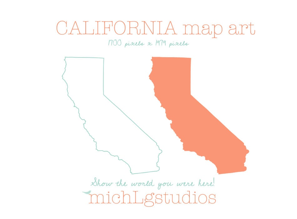 clip art california map - photo #28