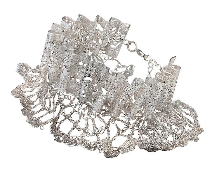 Свадебный браслет крючком кружева металлической проволоки Кружева покрынный