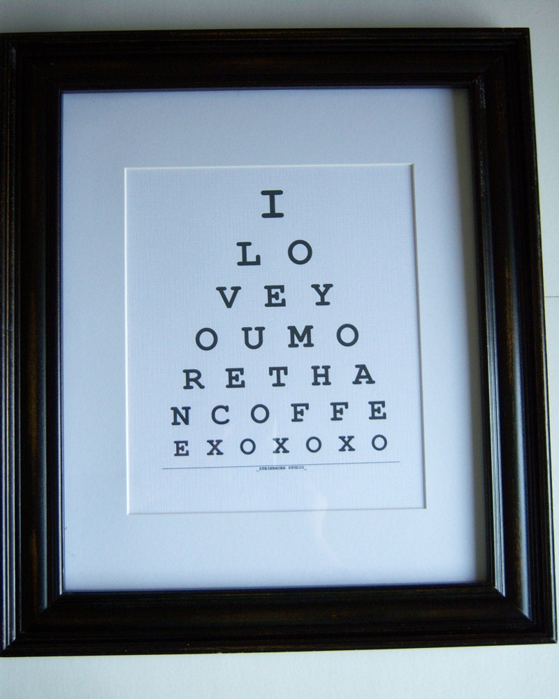 I Love You More Than Coffee Print Ready to frame Gift