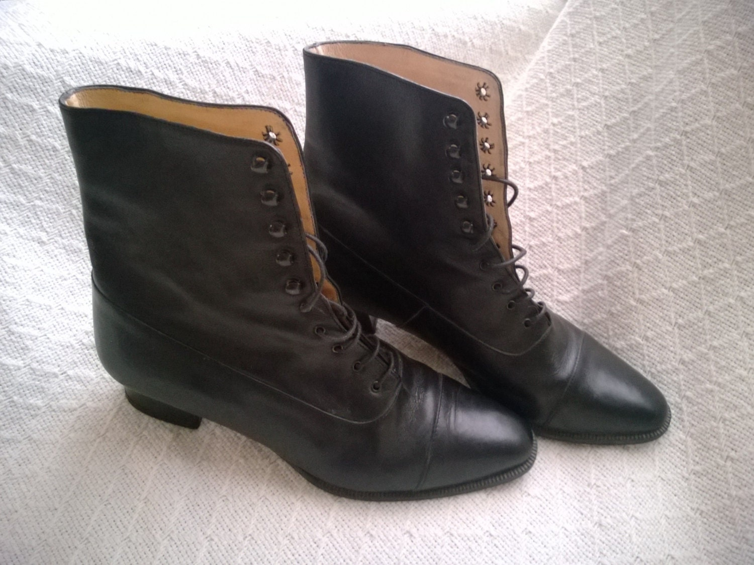 Seeking black lace-up ankle boots that are stylish but ultra
